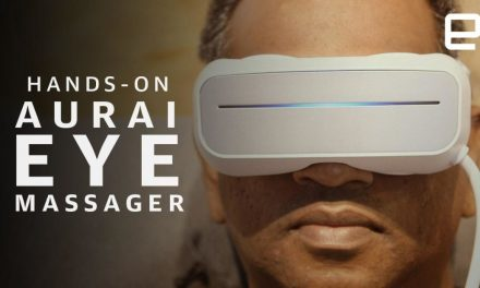 Save me, water-powered eye massager